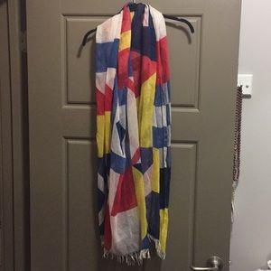 Nautical summer scarf